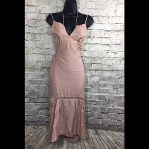 NWT Dance and Marvel Beige Lace Dress sz. S